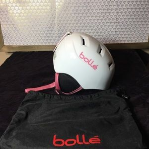 BOLLE B-KID SMALL WHITE HELMET W/ PINK